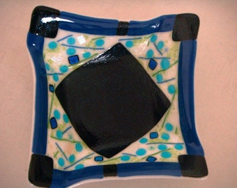 Oragami Fused Glass Bowl