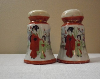 Asian inspired Salt and Pepper Shakers