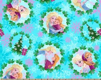 Disney Frozen Fabric - Frozen Christmas Fabric - Disney Frozen Christmas - Christmas Fabric - Elsa Anna Fabric - Frozen Fabric - Christmas