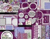 Downloadable Files - Nothing will be shipped - LLL Scrap Creations - Sweet Granddaughter Bundle - Digital Scrapbooking Kit