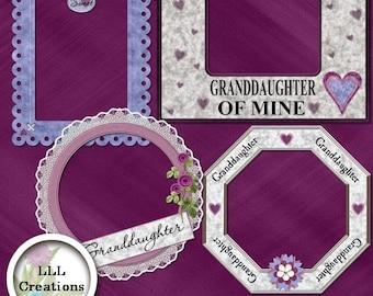 LLL Scrap Creations - Sweet Granddaughter Frames - Digital Scrapbooking Kit