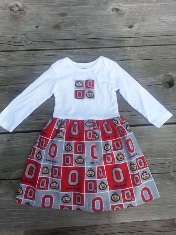 Ohio State Infant Onesie Dress Little Girl By Soakingupthesea
