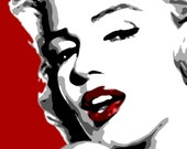 Items similar to Modern painting Marilyn Monroe pop art style hand ...