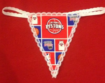 Womens DETROIT PISTONS G-String Thong Female NBA Lingerie Basketball Underwear