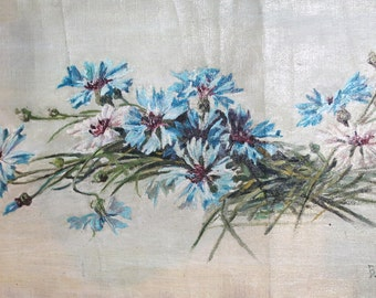 1953 Floral oil painting signed