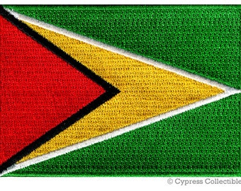 GUYANA FLAG PATCH iron-on embroidered applique Top Quality