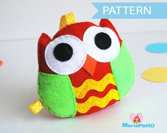 Felt Owl pattern, Felt owl Sewing pattern. PDF Sewing pattern , pdf baby sewing pattern A669