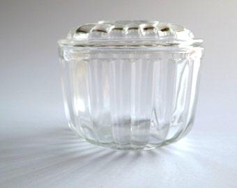 Small Vintage Glass Refrigerator Box