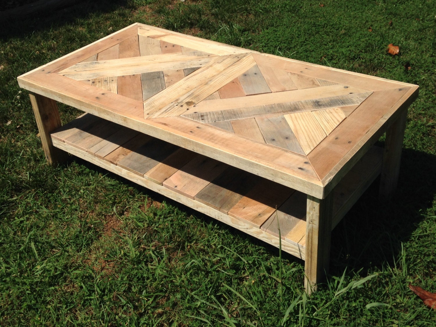 Rustic coffee table from reclaimed wood by carolinareclaimed