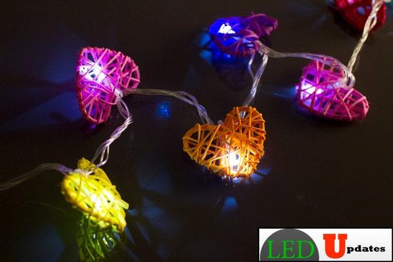 Fairy String light Heart LED Light Rainbow Color for events