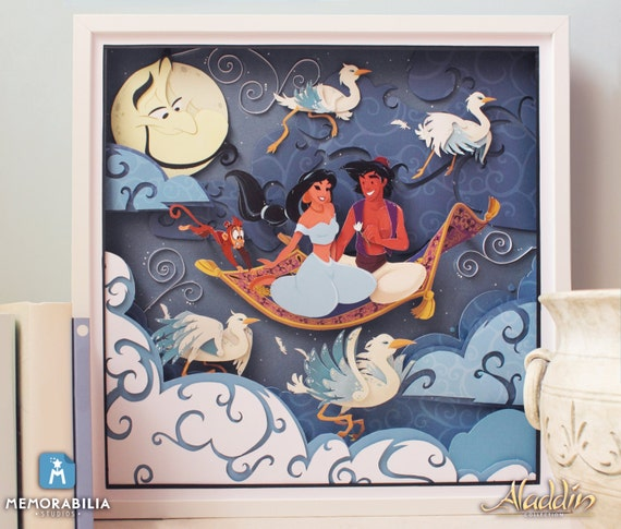Items similar to Disney Aladdin Paper Art: A Whole New ...