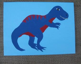 Sale!! Tyrannosaurus Rex Dinosaur Canvas