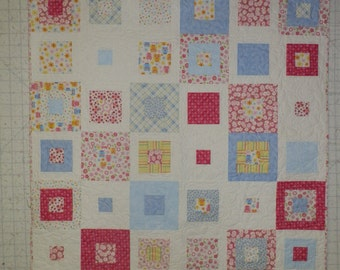 """51 x 67"""" Quilt with lots of color"""