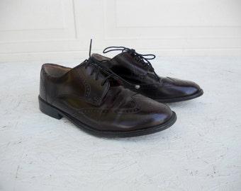 Vintage Men's Cordovan Pronto Uomo Wingtip Dress Shoes 9 M FREE SHIPPING