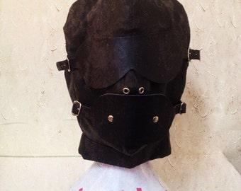 Bondage  gimp mask hood quality UA76