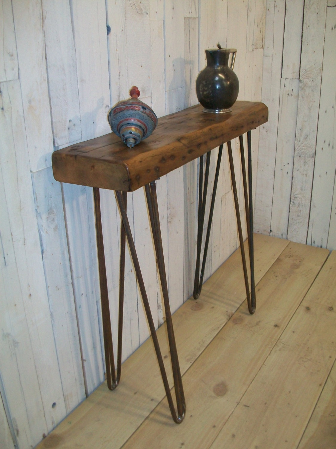 Foyer Table Hairpin Legs : British made vintage style industrial chic hairpin leg hall