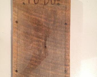 Barnwood Dry Erase TO DO board