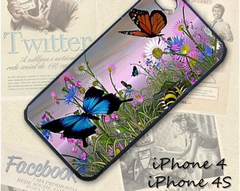 Butterflies cell phone Case / Cover for iPhone 4, 5, Samsung S3, HTC One X, Blackberry 9900, iPod touch 4 / 141