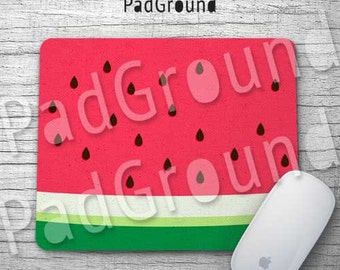 Watermelon Mouse Pad, Fruity Mousepad, Summer Accessories, Home Decor, Gifts, Natural Soft Fabric rubber backing Mouse Pad - WM01