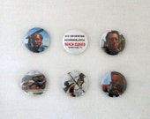 """JAWS! Set of 6 Pinback Buttons- 1"""""""