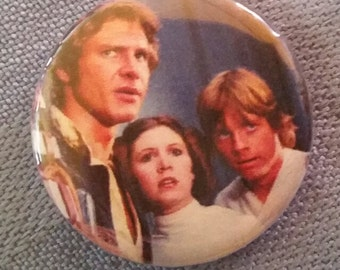 "Star Wars, Han, Leia & Luke 1"" Button"