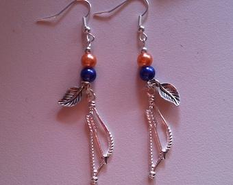 Handmade Merida (Brave) inspired earrings.