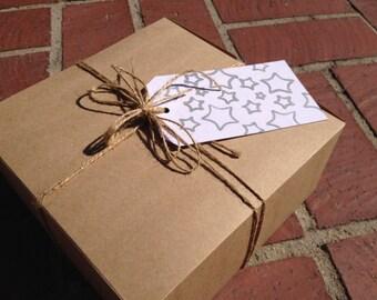 Super chic gift tag/ silver stars