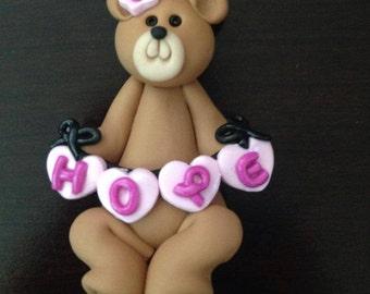 Hope Bear, Breast cancer awareness ornament