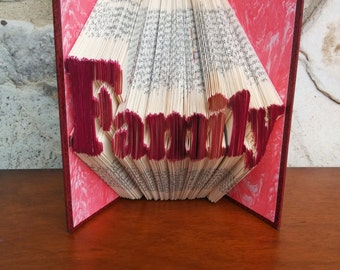 Family - Folded Book Art - Fully Customizable, mother, father