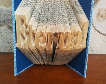 Eternal - Folded Book Art - Fully Customizable, LDS, eternity, marriage, wedding