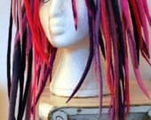 shoulder length pink and purple full head