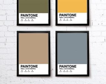 PAINTONE v1. Pantone tribute Bike print/Bike poster • blue/green/pink/yellow/orange/grey/red • modern • cool  • typographic •bold • graphic