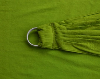 Linen Ring Sling Baby Carrier - Lime Green