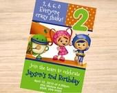 Team Umizoomi Birthday Invitation - Team Umizoomi Invitation - Team Umizoomi Invite - Printable Invitation - Digital