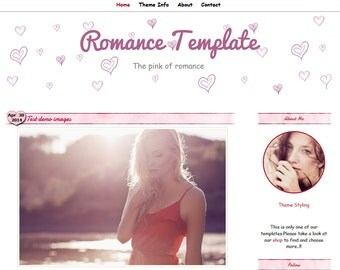 blogger Template - Romance Template blogger -  Responsive Blog Template -  Blog Template -  Blogger Theme
