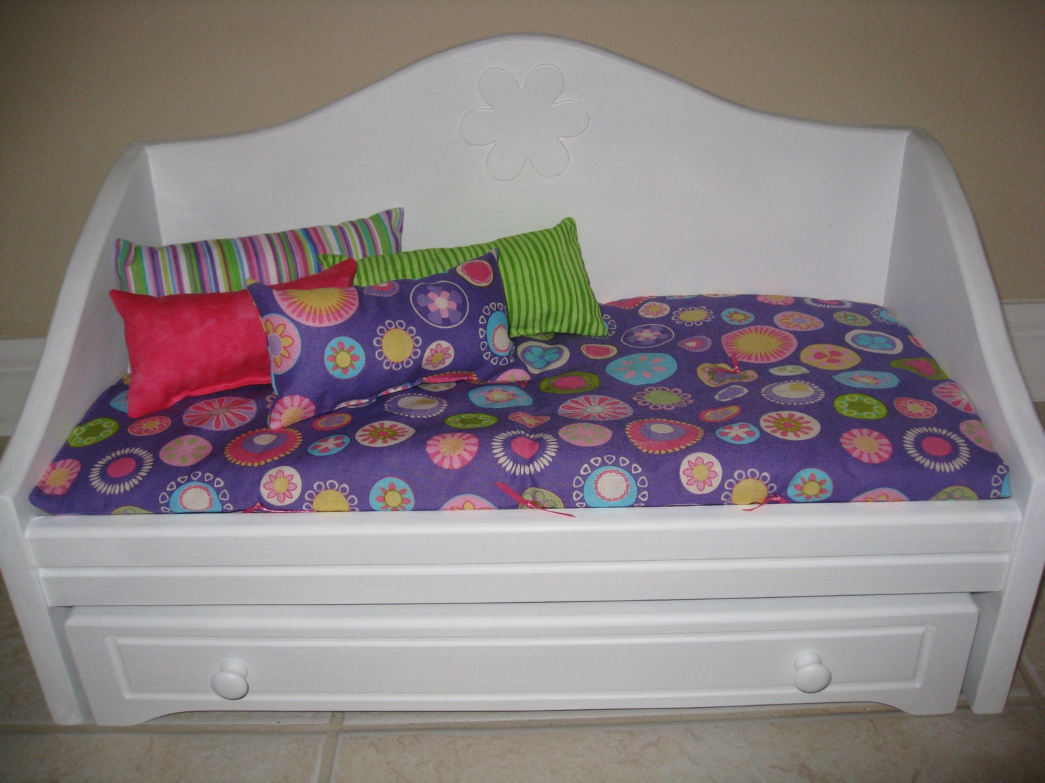 Marvelous photograph of Trundle Bed and Bedding for 18 inch Doll by dollygramma on Etsy with #743C3F color and 1500x1125 pixels