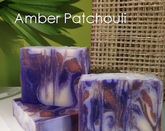 Amber Patchouli Goatsmilk Handmade Cold Process Artisan Soap