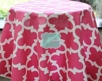 Tablecloth - Premier Prints - FYNN - Candy Pink - Choose Your Size - Table Linen Wedding Home Decor Dining Kitchen