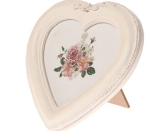 Wooden Heart Vintage Style Photo Frame