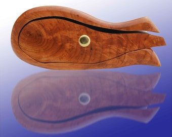 Twin Pocket Hardwood Whale Drawer - Wooden Bandsaw Box