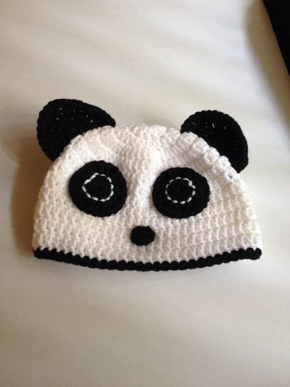 Items Similar To Panda Bear Baby Hat For Babies Newborn