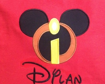 Personalized Incredibles Mickey Head Shirt Disney World Family Shirt