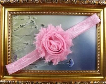 Pink chiffon headband