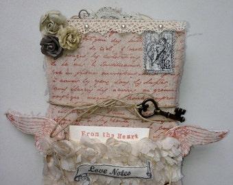 "Scrapbook Notebook ""LoveNotes"" 18x12cm"
