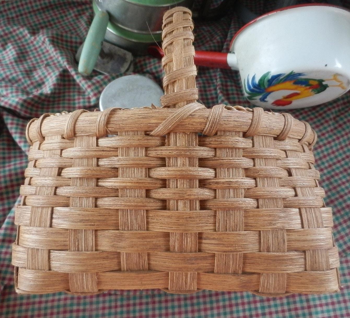 Handmade Market Baskets : Small market basket country handmade woven