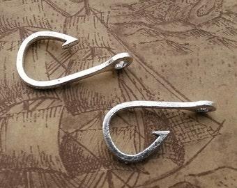 10pcs 13x24mm Hook Charms FishHook Pendant