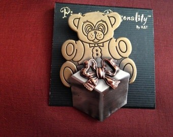 Teddy Bear Pin by Pins with Personality by K & T