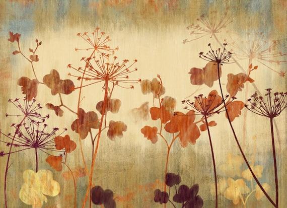 Vintage Dandelion Wallpaper Poetsie Flower Leaf Wall Decal Art