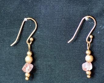 Rose Gold andRose Quartz Earrings