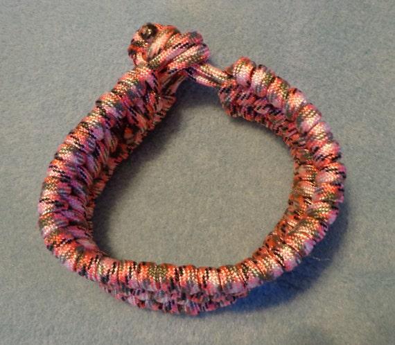 Items similar to Pink camo trilobite stitch paracord ...